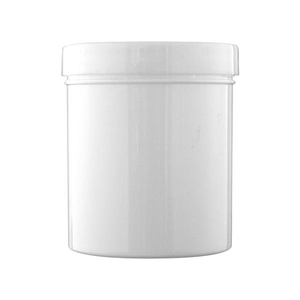 600ml WHITE Screw Lid Jar with Wadded Lid