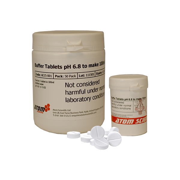 Buffer Tablets pH 6.8 to make 100ml
