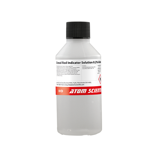 Cresol Red Indicator Solution 0.2% Alcoholic